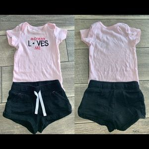CASUAL BABY GIRL SET 🌸 SIZE 6-12 M